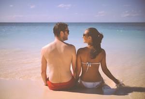 couple-on-beach-talking