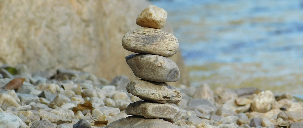 cairn-on-beach